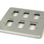 Metal switch plates - 6 gang, 8 gang, 12 gang
