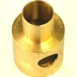 engraving on shaped brass part
