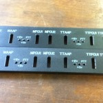 engraving on painted control panels