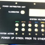 ashbee engraving on black painted control panel
