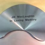 Brushed steel memorial plate